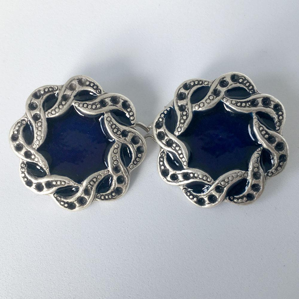 Blue Jewel Buttons