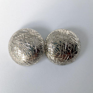 Silver Bird's Nest Buttons