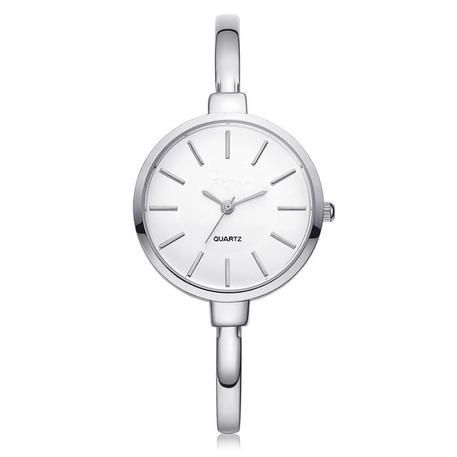 silver woman watch