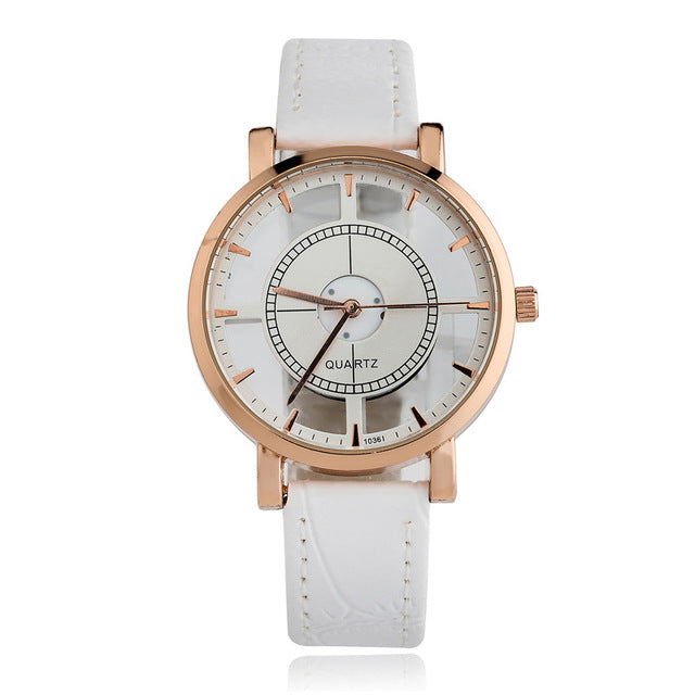 compass watch white