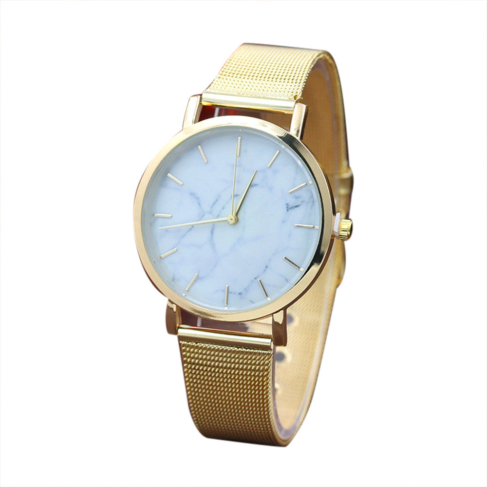 marble gold watch