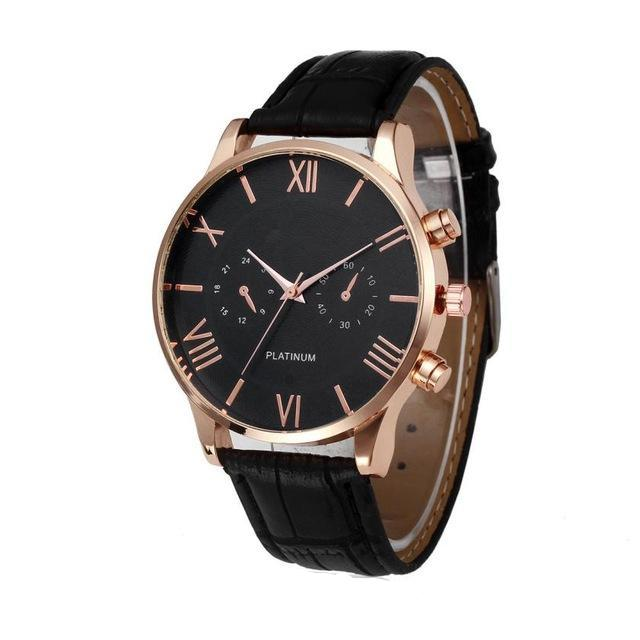 business watch leather black