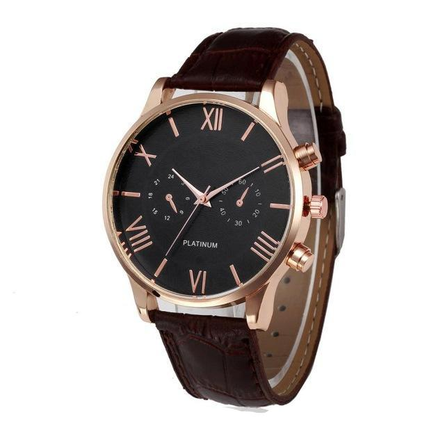 business watch leather brown