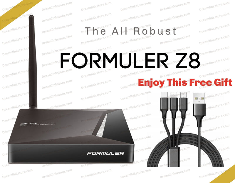 Formuler Z8 PRO 4K Media Streaming Box Formulerstore.com 3 IN 1 USB Phone Charger Cable