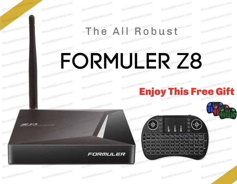 Formuler Z8 PRO 4K Media Streaming Box Formulerstore.com Backlit Keyboard & Mouse Pad