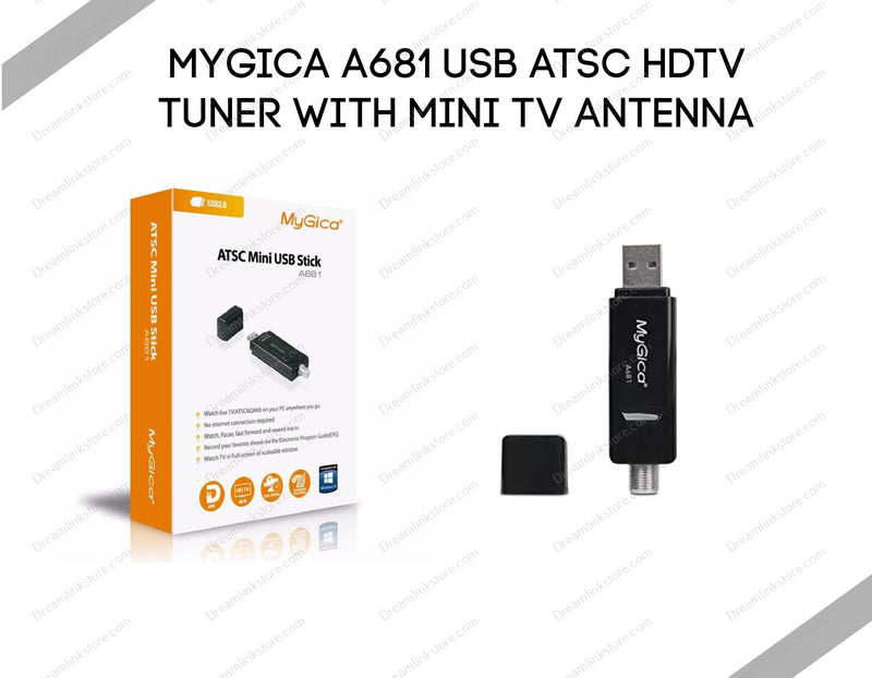 MyGica A681 USB ATSC HDTV Tuner with Mini TV Antenna Dreamlink-Formuler