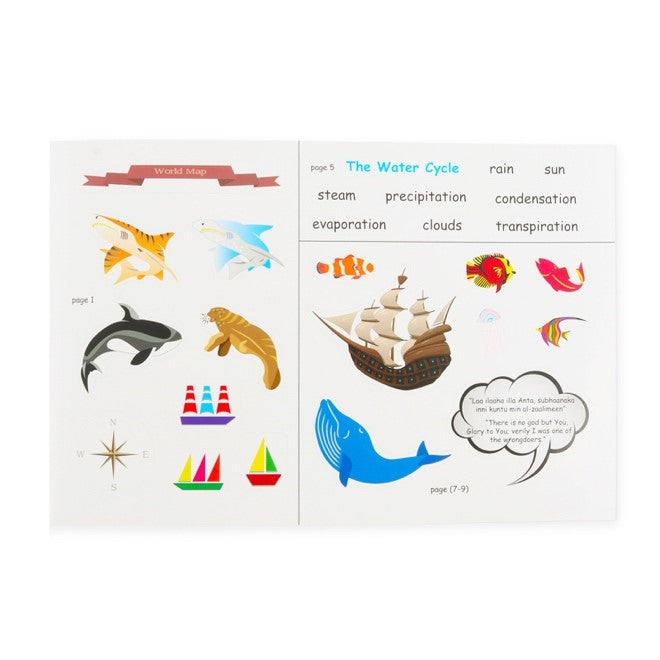 Sund, Sea and Sand Islamic sticker activity book