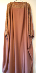 Butterfly abaya golden pearls