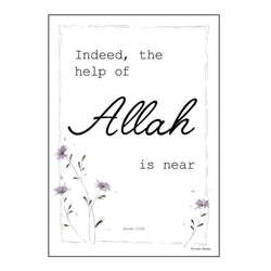 "Poster ""Indeed, the help of Allah is near"""