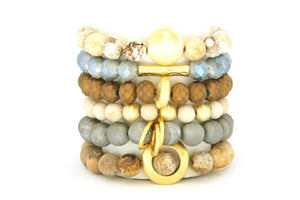 Blowing Rock Stack: Bronze Grey & Neutrals Bracelets Bracelets