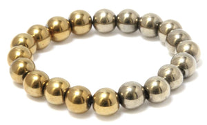Cactus Barrel - Gold and Champagne Hematite Bracelet