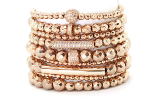 Liquid Rose Gold Stack - Your Goddess Stack Bracelets