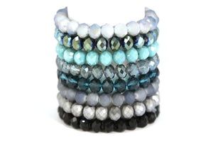 Moon Rocks! by Rockellee - Crystal Bracelet - Bright Teal Bracelets