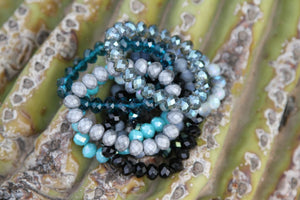 Moon Rocks! by Rockellee - Crystal Bracelet - Dark Teal Bracelets