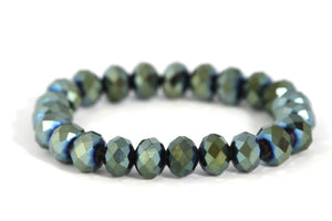 Moon Rocks! by Rockellee - Crystal Bracelet - Iridescent Dark Teal Bracelets