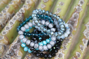 Moon Rocks! by Rockellee - Crystal Bracelet - Iridescent Light Grey/Blue Bracelets