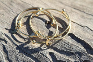 Stainless Steel Bangle Bracelet - Gold Bracelets