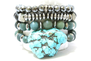 Starry Night Stack: Hot and RockN Bracelets Bracelets