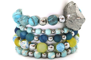 Summer Sky Stack - Half or Full Stack Your Choice! SKY Full Stack - Size Large Bracelets
