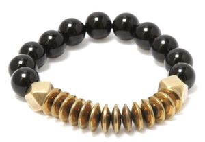 The Phoenix - Gold and Black Onyx Bracelet Bracelets