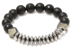The Phoenix - Silver and Black Onyx Bracelet Bracelets