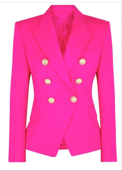 Pop of Color Double Busted Blazer