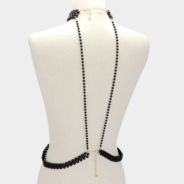 Black Pearl Body Chain