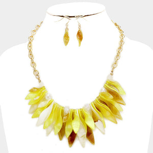 Cluster Leaf Necklace