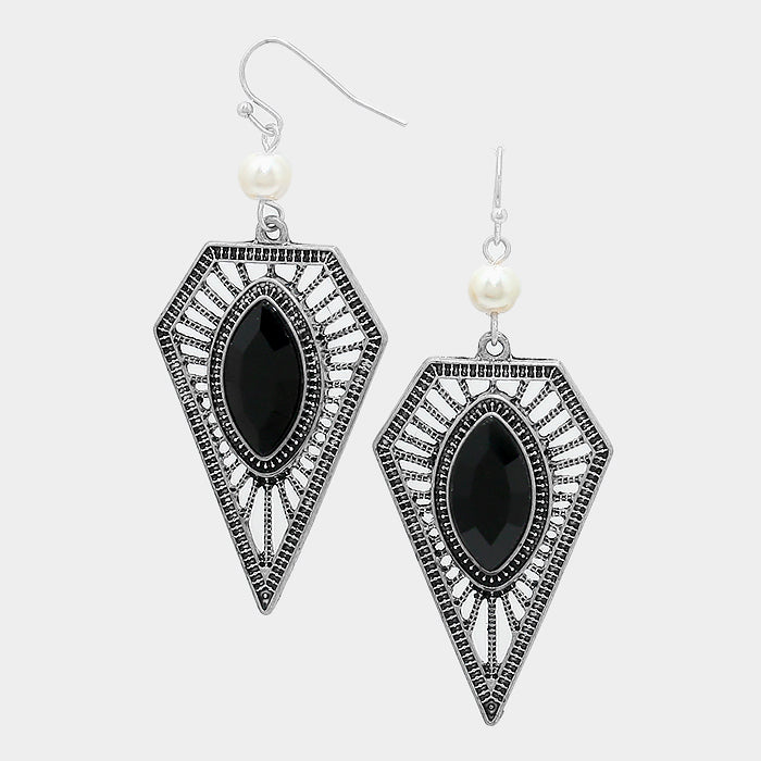 Marquise Crystal Tribal Earrings