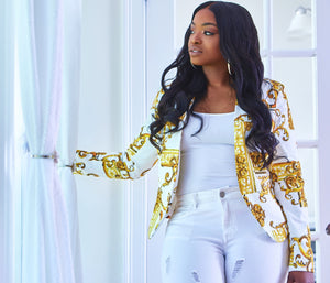 Gold and White Blazer