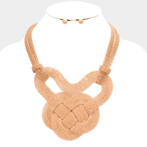 Knot Mesh Metal Necklace