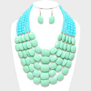 Multi-Strand Pebble Necklace