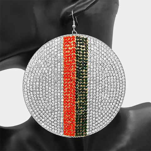 Over Size Crystal Embellished Earring