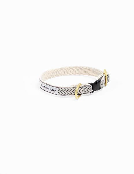Chef l'Bark Cat Collar | Cream & Black