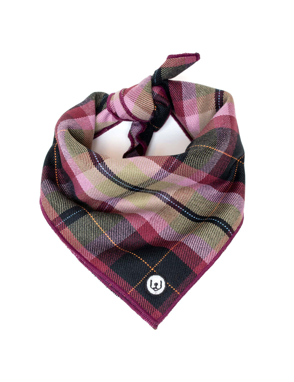 Plum Plaid Dog Bandana