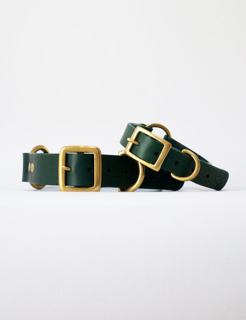 Leather Dog Collar | Green