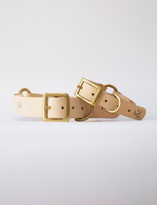 Leather Dog Collar | Natural