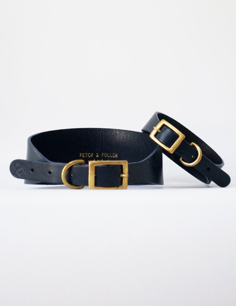 Hound Leather Dog Collar | Navy