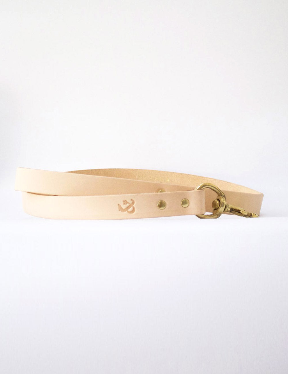 Leather Dog Leash | Natural