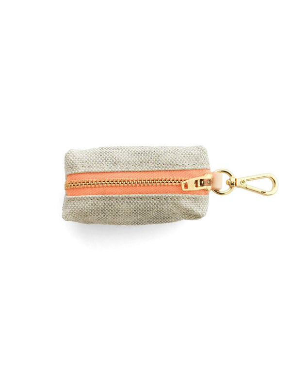 Fog & Peach Waxed Canvas Leash Bag