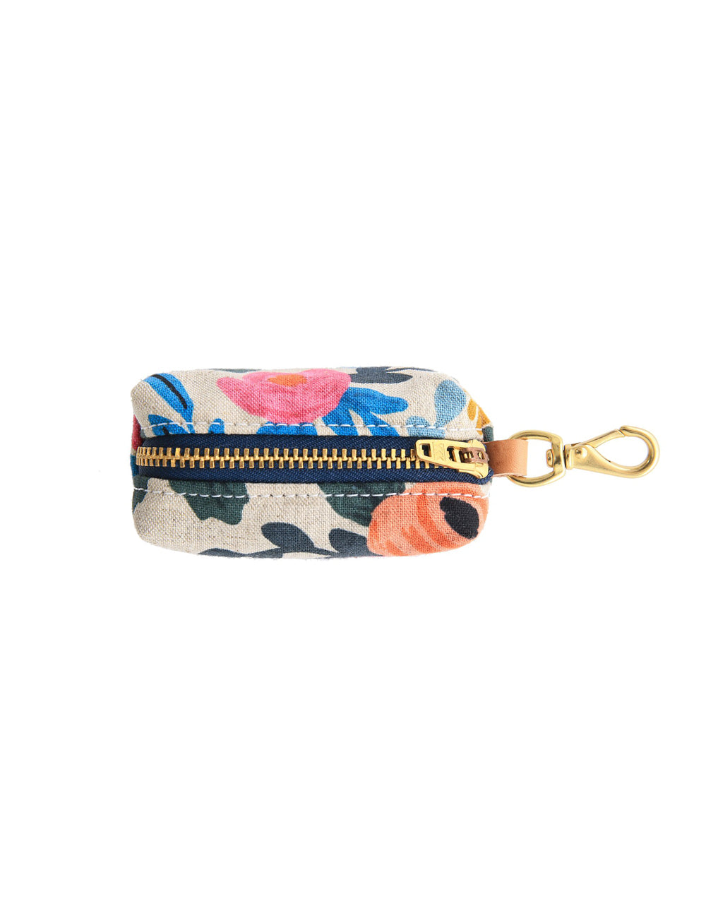 Rosa Floral Natural Leash Bag