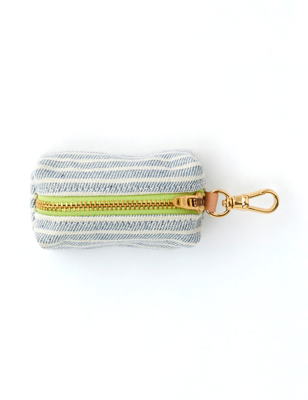 Upcycled Denim Stripe Leash Bag