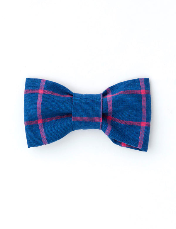 Windowpane Check Bow Tie