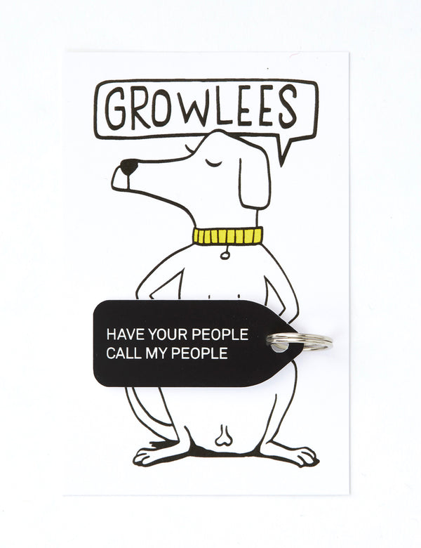 Have Your People Call My People Dog Tag | Black