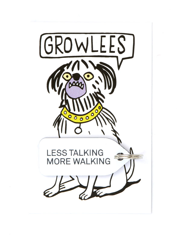 Less Talking More Walking Dog Tag | White