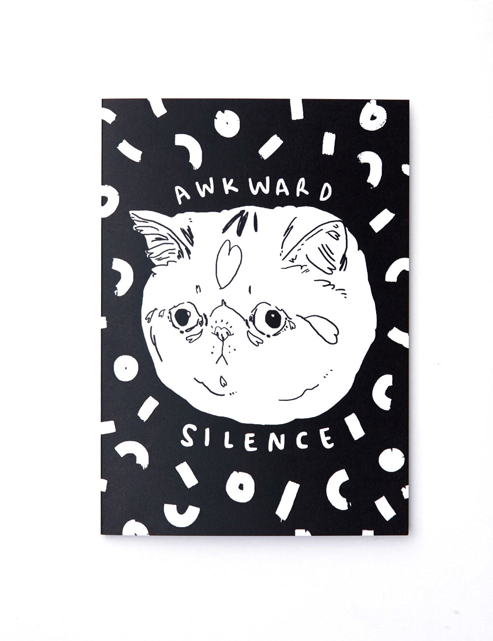 'Awkward Silence' Greeting Card