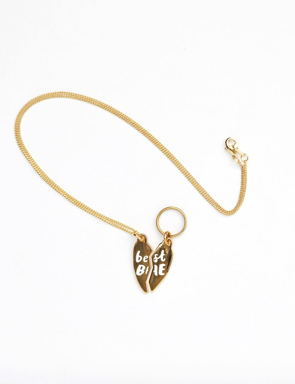 'Best Bae' Necklace & Collar Tag | Gold