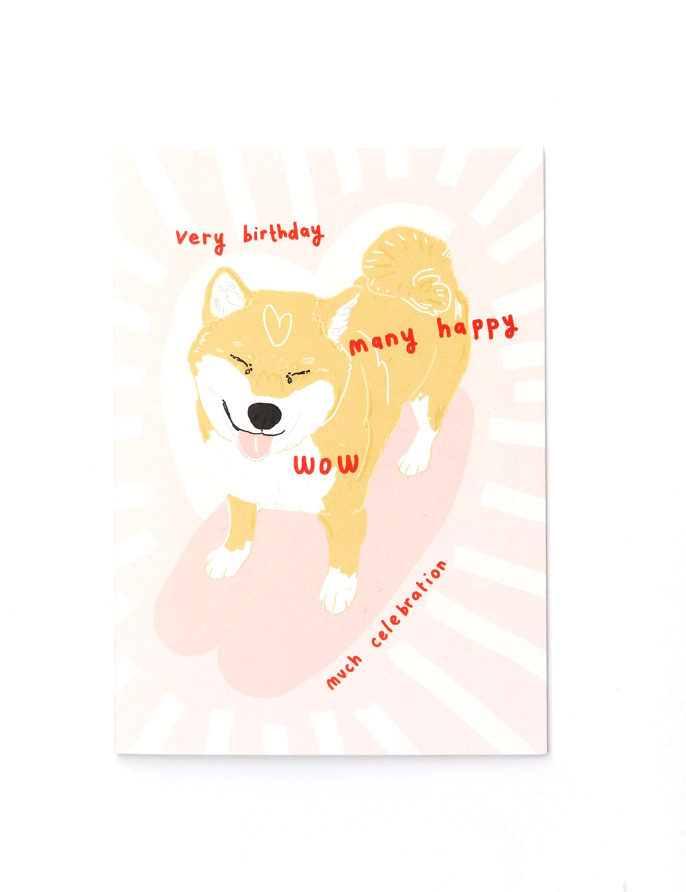 'Shibu Birthday' Greeting Card