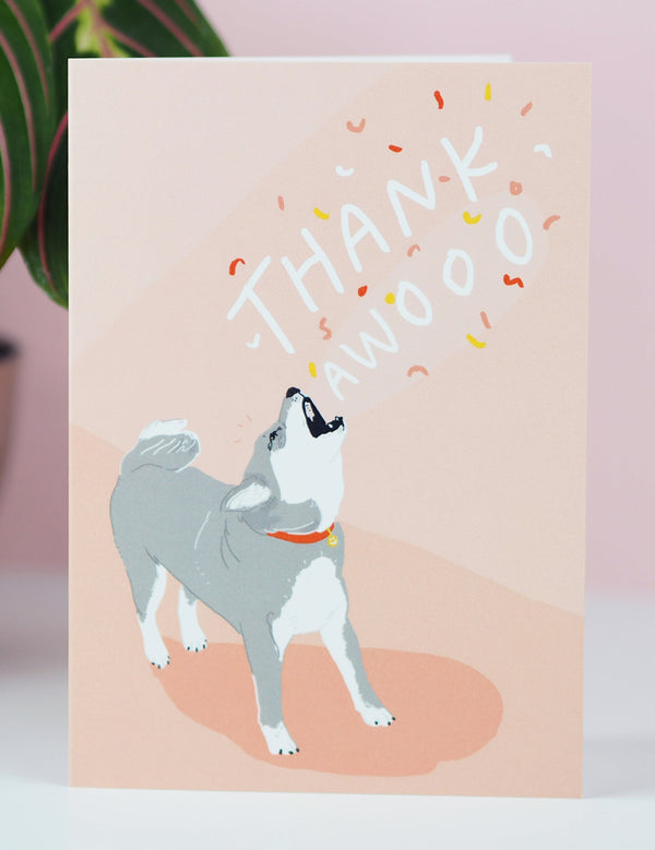 'Thank Awoo' Greeting Card