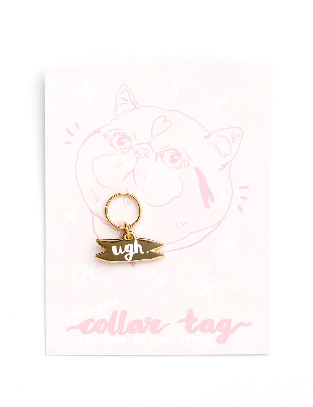 'Ugh' Collar Tag | Gold